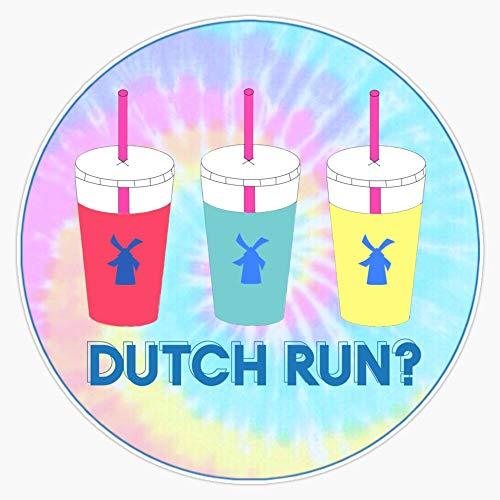 Dutch Bros Coffee - Dutch Run? Tie Dye Sticker Vinyl Decal Wall Laptop Window Car Bumper Sticker 5'