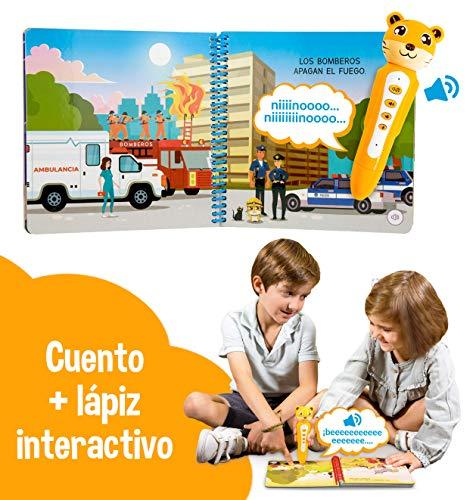 blaBOOK Libro Interactivo Infantil para Niños de 2 a 5 años + Lápiz Lector, Bienvenidos a la Ciudad | SI Contiene Lápiz Lector