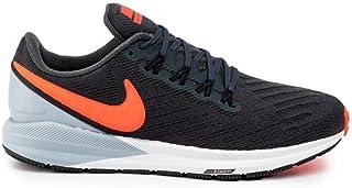 Nike Australia Men's Air Zoom Structure 22 Running Shoes, Black/White-Gridiron