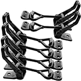 6Pack Heavy Duty Toggle Latch, 550lbs Capacity Black Toggle Clamp Latch Pull Latch Clamps, Adjustable Smoker Latch Clamp Quick Release Hasp Clamps for Cabinet Boxes Case Trunk Jig, Metal Draw Latch
