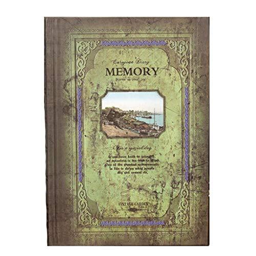 European Style Notebook Retro Literary Diary Kleber Heftklammerbindung Eingebautes Lesezeichen Seil Konto für Business Note Record (Color : M-2)