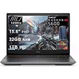 "Dell 2021 Flagship G5 15 Special Edition Gaming Laptop 15.6"" FHD 120Hz Display AMD 8-Core Ryzen 7 4800H (Beat i7-10750H) 32GB RAM 1TB SSD Radeon RX 5600M 6GB Backlit USB-C Win10"