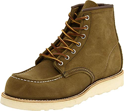 Red Wing Mens Classic Moc Toe 8881 Brown Suede Boots 46 EU