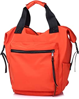 DeLamode Ladies Designer Handbags Travel Hobo Black Shoulder Bag Orange