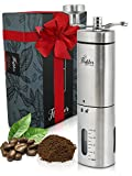 Manual Coffee Grinder – Conical Burr Coffee Grinder - Hand Coffee Grinder Gift Set – Adjustable...
