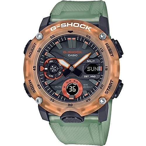 Casio G-Shock By Men's GA2000HC-3A Digital Watch Orange/Green