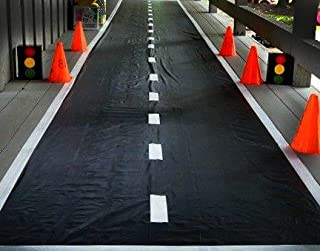 Ifavor123 Racetrack Ground Floor Runner for Party Race Car Theme Accessory Decoration (1)