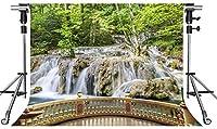 HD自然の風景の背景滝の森の写真の背景10X7ftをテーマにしたパーティーの写真ブースYouTubeの背景PMT870