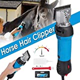 WANNA.U Clipper Horses Professional, 690W 6-Speed ??Adjustable Horse Grooming Electric Shaving Machine Shearing Scissors Mules Pig Cow Cattle Dogs