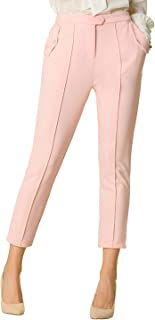 Allegra K Women's Office Work Ankle Pants Casual Stretch Pull-on Comfort Pants