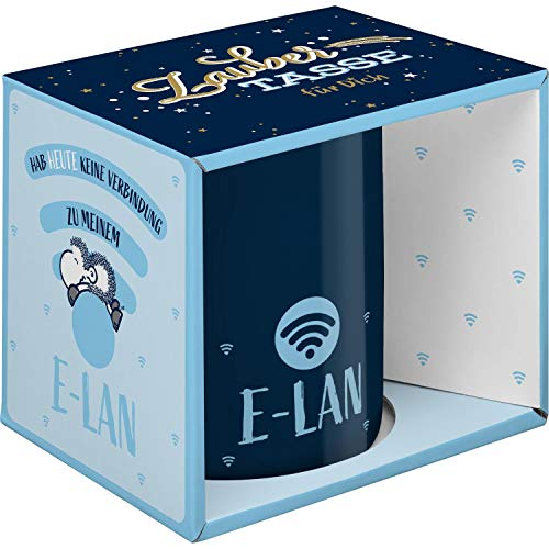 Sheepworld 47062 Zaubertasse mit Wechselmotiv E-LAN, Porzellan, 35 cl, Geschenkbox