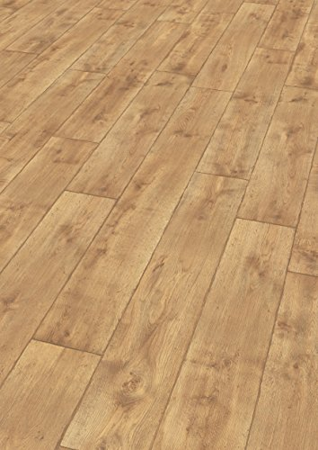 EGGER Home Laminat hell braun Holzoptik - Vinstra Eiche honig EHL093 (7mm, 2,481 m²) Klick Laminatboden | Bodenbelag