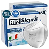BFE ≥99% Efficienza di filtrazione batterica. 20 Mascherine Filtranti Monouso FFP2 NR. SOLAMENTE le mascherine vendute da Eurocali, venditore ufficiale SICURA, sono le mascherine originali SICURA Protection. SISTEMA TUNNEL Protection: ogni mascherina...