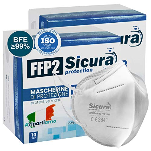 20 Mascherine FFP2 certificate CE e Made in Italy