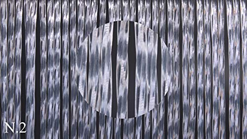 Cirillo Tende PVC-Türvorhänge Modell Vesuvio – Aluminiumträger - Made in Italy - Eichmaß (100X220/120X230/130X240/150X250) – Fliegenvorhang (100X220, Weiß (2))