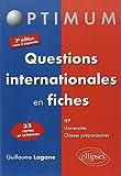 Questions Internationales en Fiches 33 Cartes et Schémas - ELLIPSES - 17/12/2013