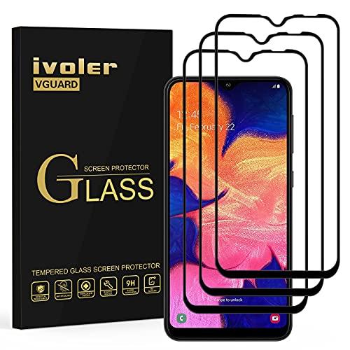 VGUARD [3 Unidades] Protector de Pantalla para Samsung Galaxy A10S / Samsung Galaxy A10, [Cobertura Completa] Cristal Vidrio Templado Premium, [Dureza 9H] [Anti-Arañazos] [Sin Burbujas]