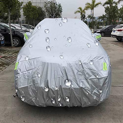Autohoezen Regenjas PEVA Anti-Stof Waterdichte Zonwerende SUV Auto Cover, met waarschuwingsstroken, Geschikt voor auto's tot 5,1 m (199 inch) in lengte