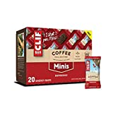 CLIF BAR Minis with 1 Shot of Espresso - Energy Bars - Coffee Collection - 65 mgs of Caffeine Per Bar - Espresso Flavor (0.99 Ounce Breakfast Snack Bars, 20 Count)