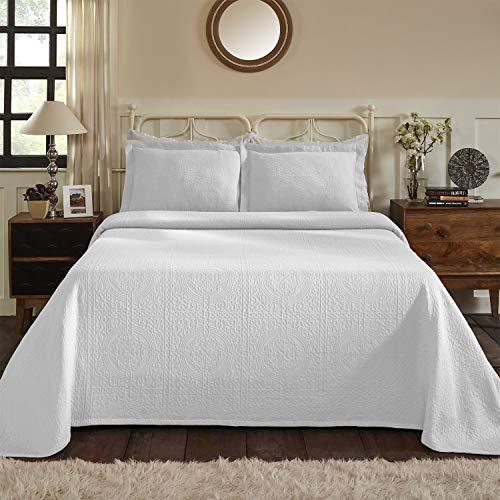SUPERIOR Fleur De Lis 100% Cotton Bedspread