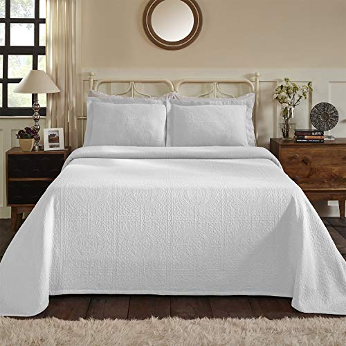 Superior 100% Cotton Medallion Bedspread with Shams,...