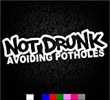 Not Drunk Avoiding Potholes Sticker Funny JDM...