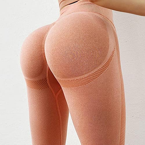 GDFGF Leggings para Mujer Pantalones de Fitness de melocotón Pantalones de Yoga elásticos a la Cadera para Mujer Pantalones de melocotón Ajustados de Cintura Alta Pantalones Deportivos