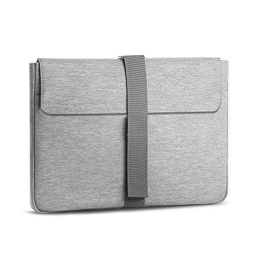 AtailorBird Funda para PC Portátil 15.6 Pulgadas Bolsa de Ordenador Resistente e Impermeable Protectora para Laptop Multifuncional para MacBook Air,MacBook Pro - Gris
