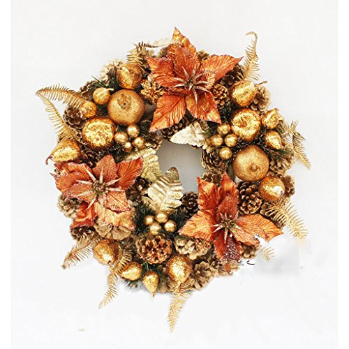 Check Out This LAOHAO Christmas Decoration 30CM, 40CM, 50CM Exquisite Bronze Decorative Wreath Chris...