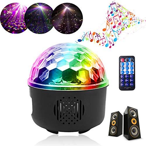 Discokugel, UKing LED Discolicht Partylicht Party Lampe mit Bluetooth Sprecher Musik 6 Modi Lichteffekte Projektor Beleuchtung mit Fernbedienung USB SD-Karte für Halloween Weihnachten Geburtstag Party