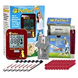 Glucose Monitor Blood Sugar Test Kit Diabetic Supplies for Dogs Cats | Blood Glucose Monitoring Kit PT-100 by PetTest | 25 Test Strips | 50 (21G) Lancets | Red Dot Lancing Device with Carrying Case