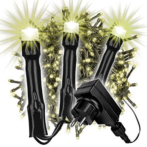 700 LED Büschellichterkette Cluster light warm-weiß für Außen IP44 Außen-Trafo 6h-Timer schwarzes Kabel 18m Weihnachtsdekoration Party Xmas