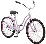 "schwinn mikko women's cruiser bike, single speed, 26"" wheels, purple"