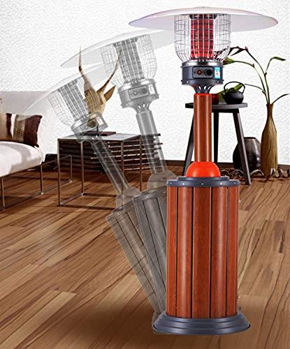 WECDS Calentador de patio al aire libre, calentador de gas de calefacción de área grande, calentador de estufa ajustable de altura de protección múltiple para uso comercial o doméstico