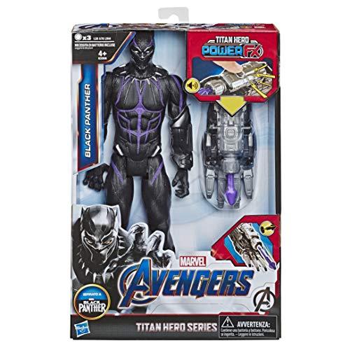 Marvel Avengers: Endgame - Black Panther Titan Hero con Power FX Incluso (Action Figure da 30 cm)