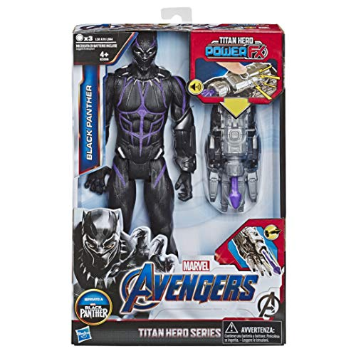 Marvel Avengers: Endgame - Black Panther Titan Hero con Power FX Incluso (Action Figure da 30 cm)