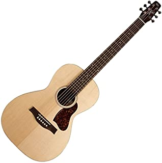 Seagull Entourage Grand Natural 6-String Acoustic Electric Guitar with Fishman Sonitone Preamp System, 21 Frets, Solid Spruce Top, Wild Cherry Back, Silver Leaf Maple Neck, Semi-Gloss