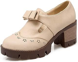 BalaMasa Womens APL12421 Pu Platform Heels