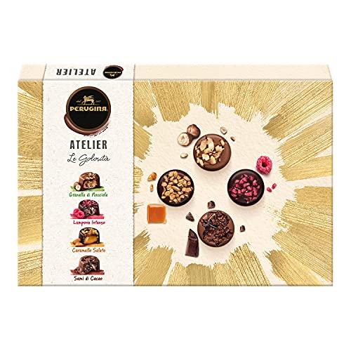 PERUGINA ATELIER Le Golosità Cioccolatini Assortiti al Latte Finissimo e Fondente Extra con Cremoso Ripieno Scatola Regalo 398g
