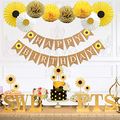 Read About Party Inspo Sunflower Birthday Party Decorations Supplies Kit, Sunflower Happy Birthday B...