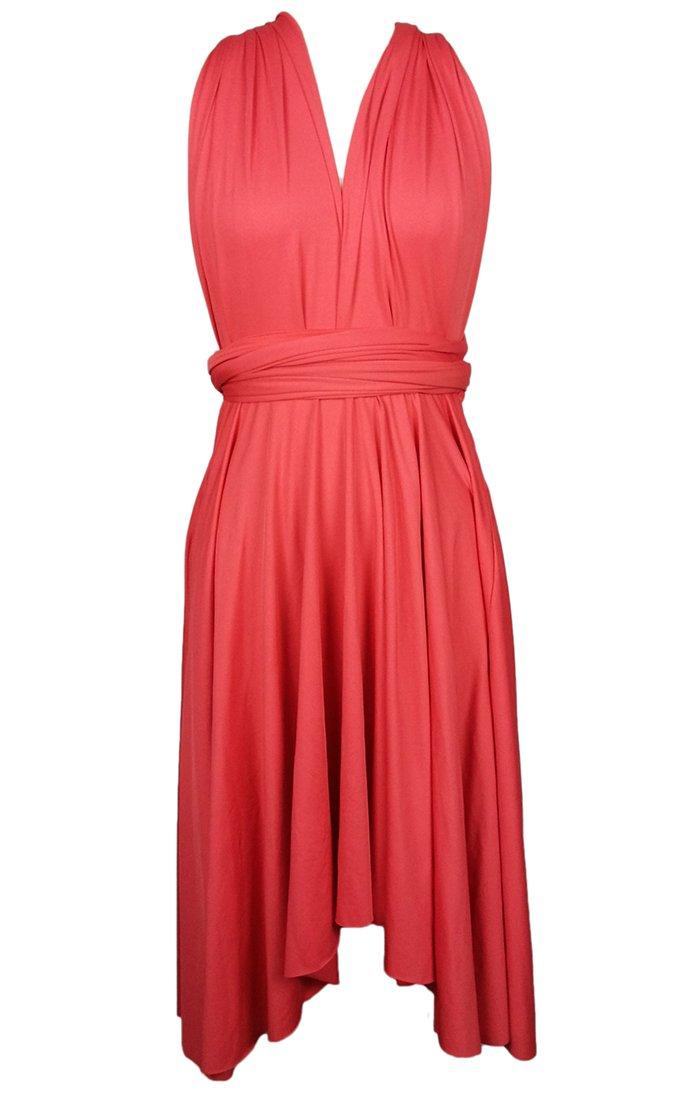 Available at Amazon: Edaydress Plus Size high Low Hem Dress Infinity Dresses Short Bridesmaid Dress