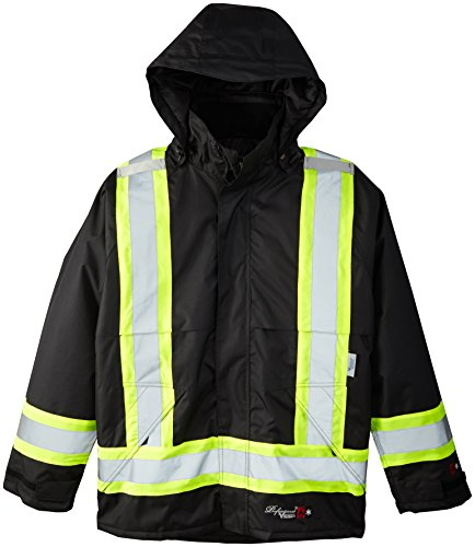 Viking Mens Professional Insulated Journeyman FR Waterproof Flame Resistant Jacket, Black, Large