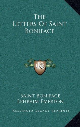 The Letters Of Saint Boniface