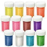 12 Colori Polveri glitter per unghie, Set di Glitter Polvere per Slime, nail art, viso, ombretto, fai da te, artigianato artistico