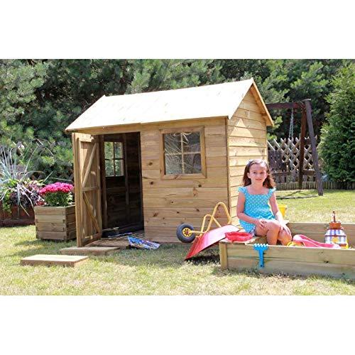 Spielhaus Kinderspielhaus Holz Gartenhaus Spielhütte aus Holz für Kinder - (3669)