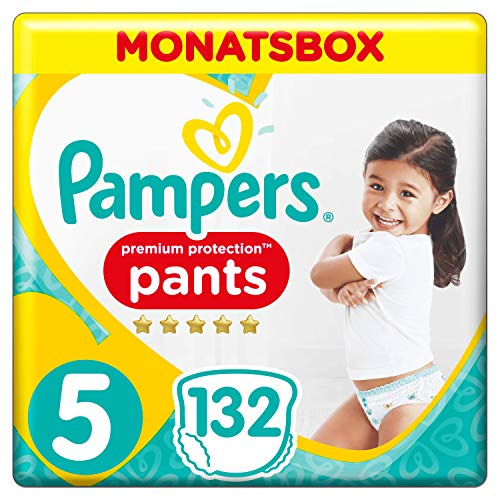 Premium Protection Pampers Pants Size 5 132 Nappies One Month Box