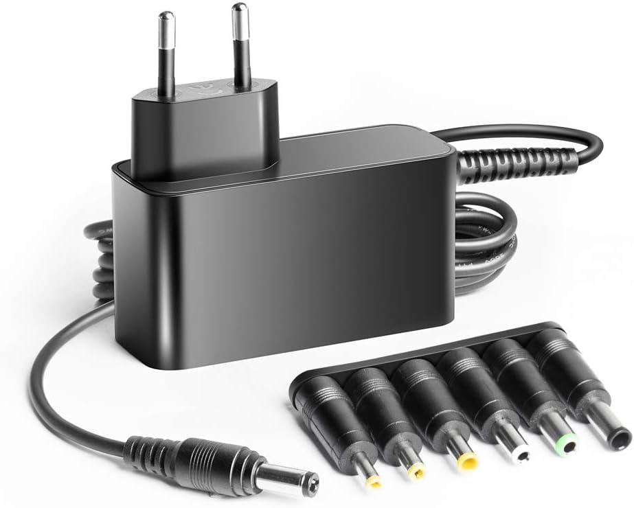 KFD 12V 1,5A 2A 3A Cargador de batería Alimentador Universal Fuente de alimentación Adaptador para LED Strip Speedport FritzBox Router Switch CCTV Altavoz Media Player Enrutador Monitor TFT y LCD Fax