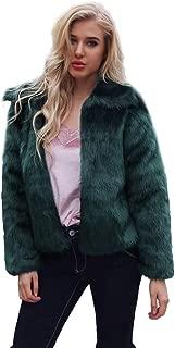 KYLEON Women's Coat Winter Faux Furs Jacket Luxury Faux Fox Fur Slim Thicken Coat Overcoat Trench Pea Coat Outwear Parka