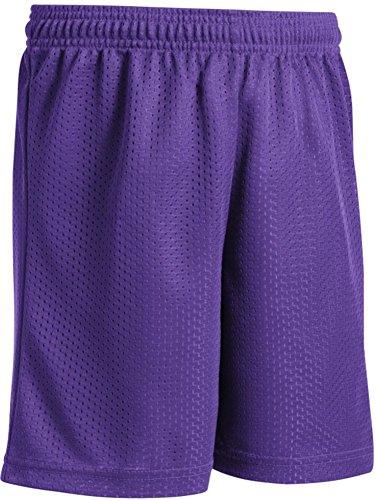 Joe's USA - Youth Mesh Basketball Short (lila, Youth Medium)