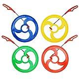 XSDF Rolling Hoops Color Telescopic Rod Equipo de deportes al aire libre Padre-Niño Nostalgia Regalo del Día del Niño (rojo, 4 piezas)